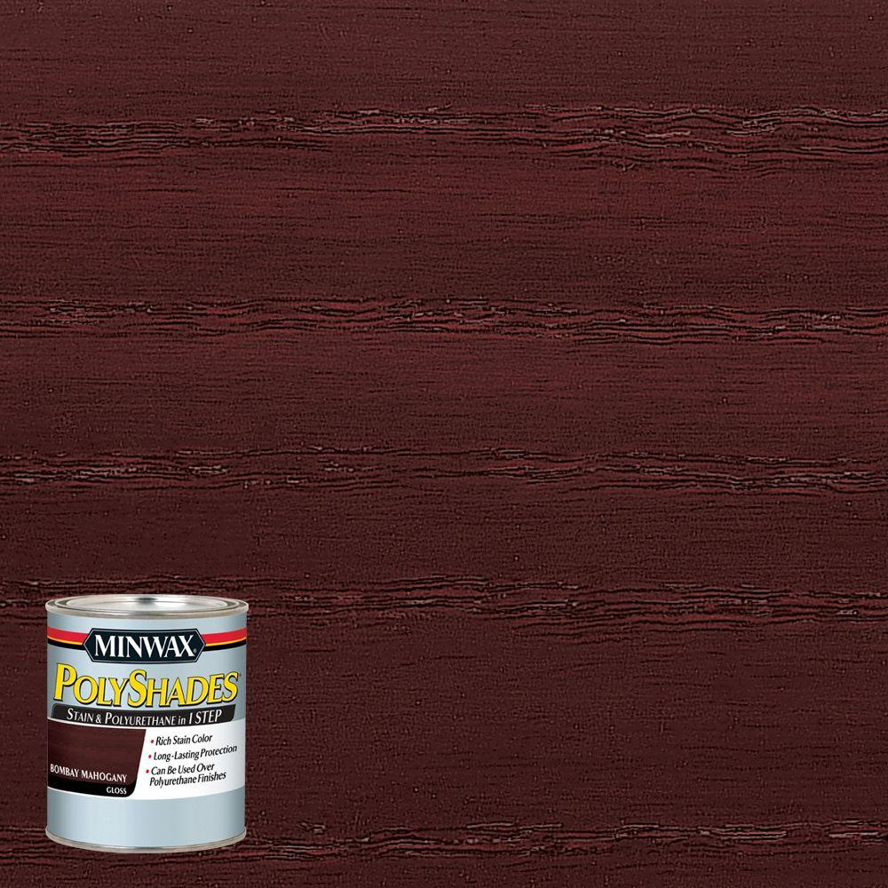 8 oz. PolyShades Bombay Mahogany Gloss 1-Step Stain and Polyurethane (4-Pack)