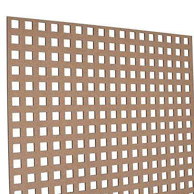 72 in. x 24 in. x 1/8 in. Unfinished Square Decorative Perforated Paintable MDF Screening Panel Insert