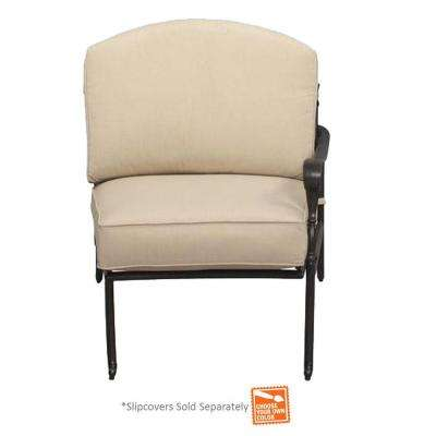 Edington Bronze Right Arm Patio Sectional Chair with Cushion Insert (Slipcovers Sold Separately)
