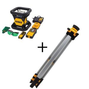 Dewalt 20-Volt Lithium-Ion Green Rotary Laser Level with Bonus Construction Tripod by DEWALT