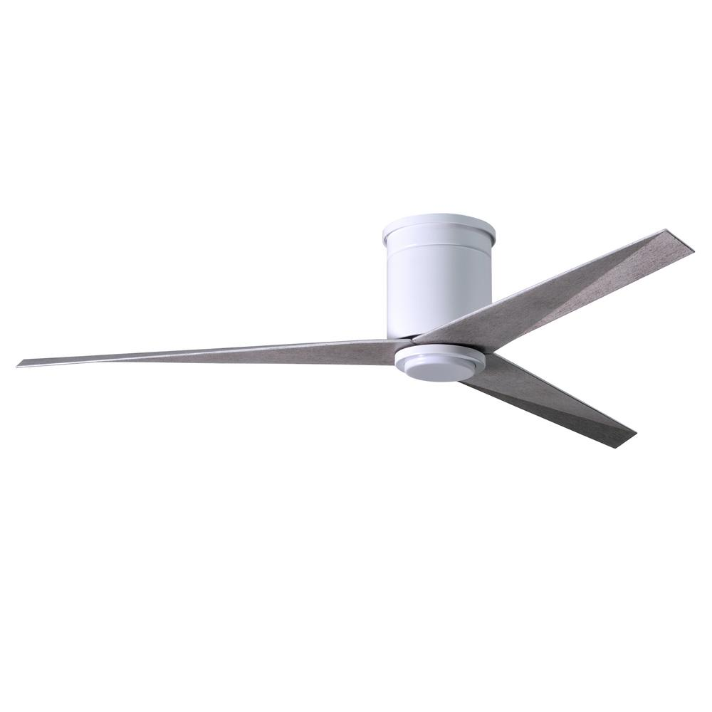 Eliza 56 in. LED Indoor/Outdoor Damp Gloss White Ceiling Fan with