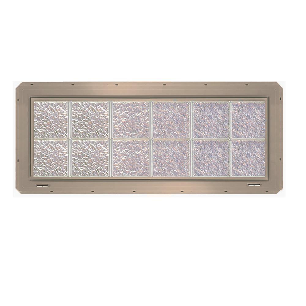 CrystaLok 46.75 in. x 16.75 in. x 3.25 in. Ice Pattern Glass Block ...
