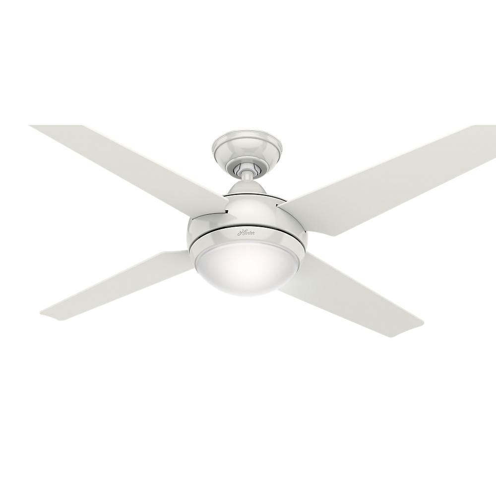 Hunter Sonic 52 In Indoor White Ceiling Fan With Universal Remote