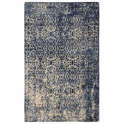 Modern Heritage Distressed Vintage Inspired Navy 3 ft. x 5 ft.  Area Rug