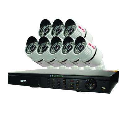 Wired T-HD 16-Channel 2TB DVR Surveillance System with 8 T-HD 1080p Bullet Cameras