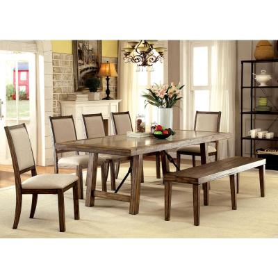 Collete Rustic Oak Industrial Style Dining Table