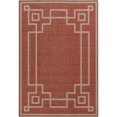 Blanche Cherry 5 ft. x 8 ft. Indoor/Outdoor Area Rug
