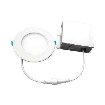 4 in. 4000K New Construction or Remodel IC Rated Canless Recessed Integrated LED Kit for Shallow Ceiling