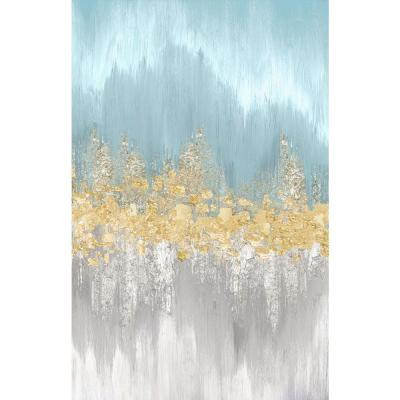 """48 in. x 72 in. """"Neutral Wave Lengths I"""" by Eva Watts Canvas Wall Art"""