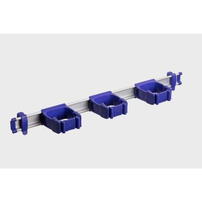 21.5 in. Purple Garage, Garden and Sports Tool Organizer with 3 One-Size-Fits-All Tool Holders