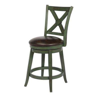 Phenomenal Green Wood Leather Bar Stools Kitchen Dining Room Inzonedesignstudio Interior Chair Design Inzonedesignstudiocom