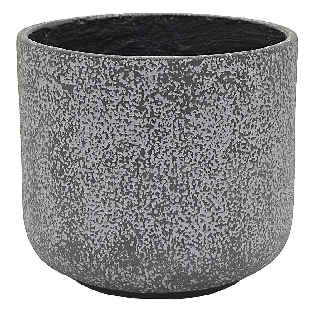 14.75 in. x 14.75 in. Planter Large in Gray