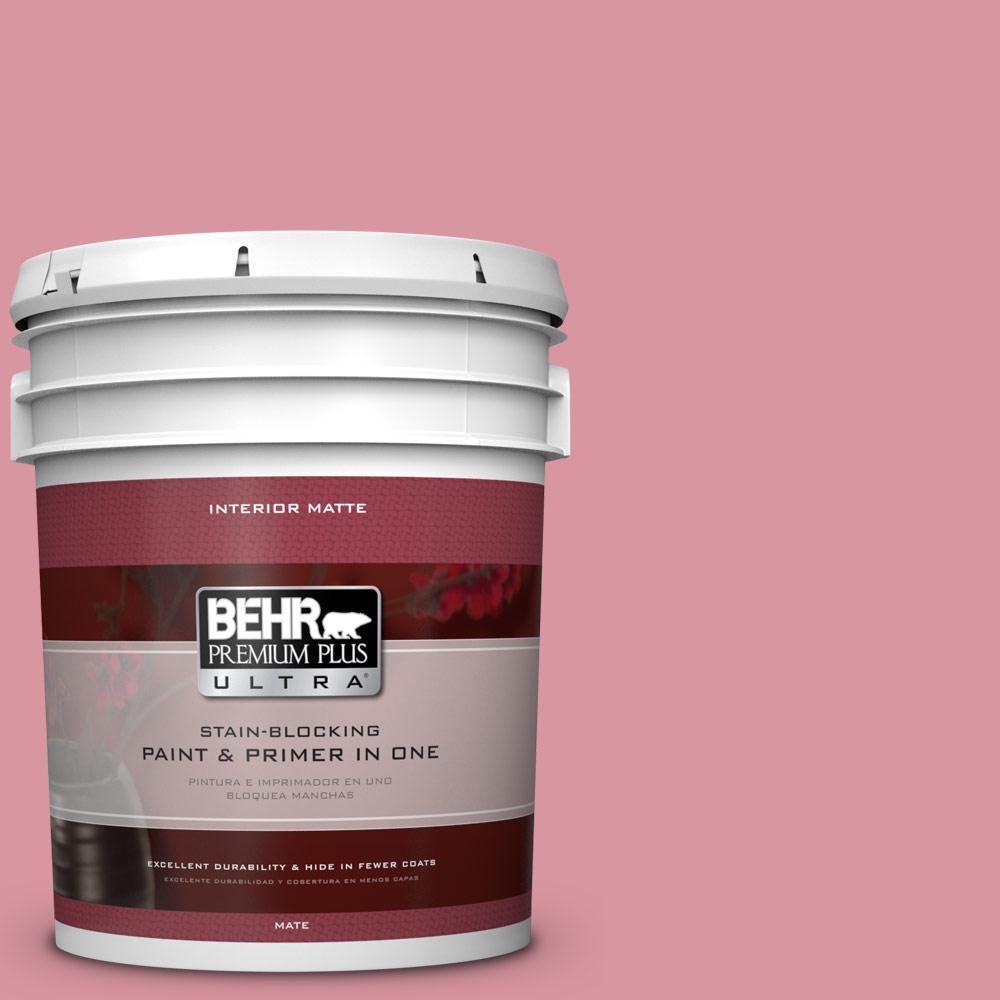 5 gal. #M150-4 Glow Pink Matte Interior Paint