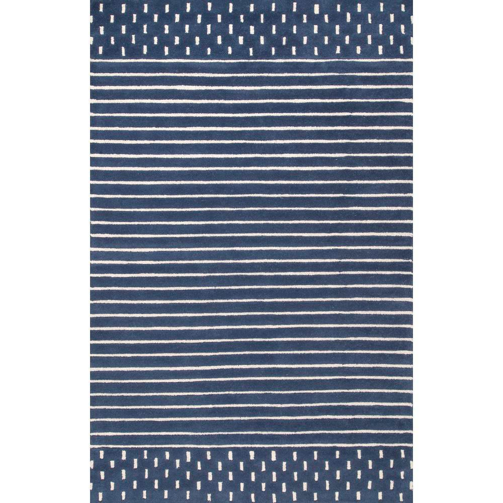 nuLOOM Marlowe Stripes Navy 8 ft. x 10 ft. Area Rug