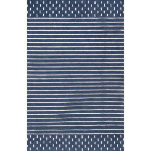 Marlowe Stripes Navy 8 ft. x 10 ft. Area Rug