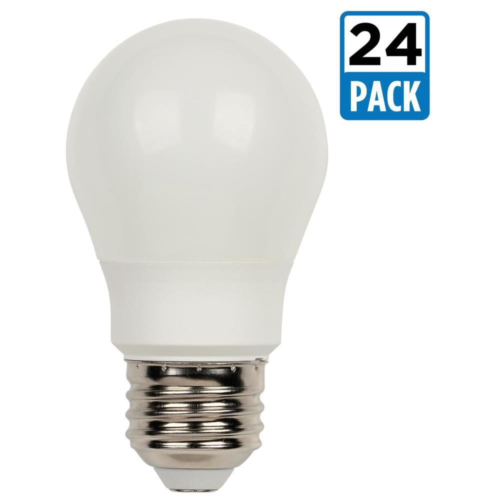 60W Equivalent Soft White A15 LED Light Bulb (24-Pack)