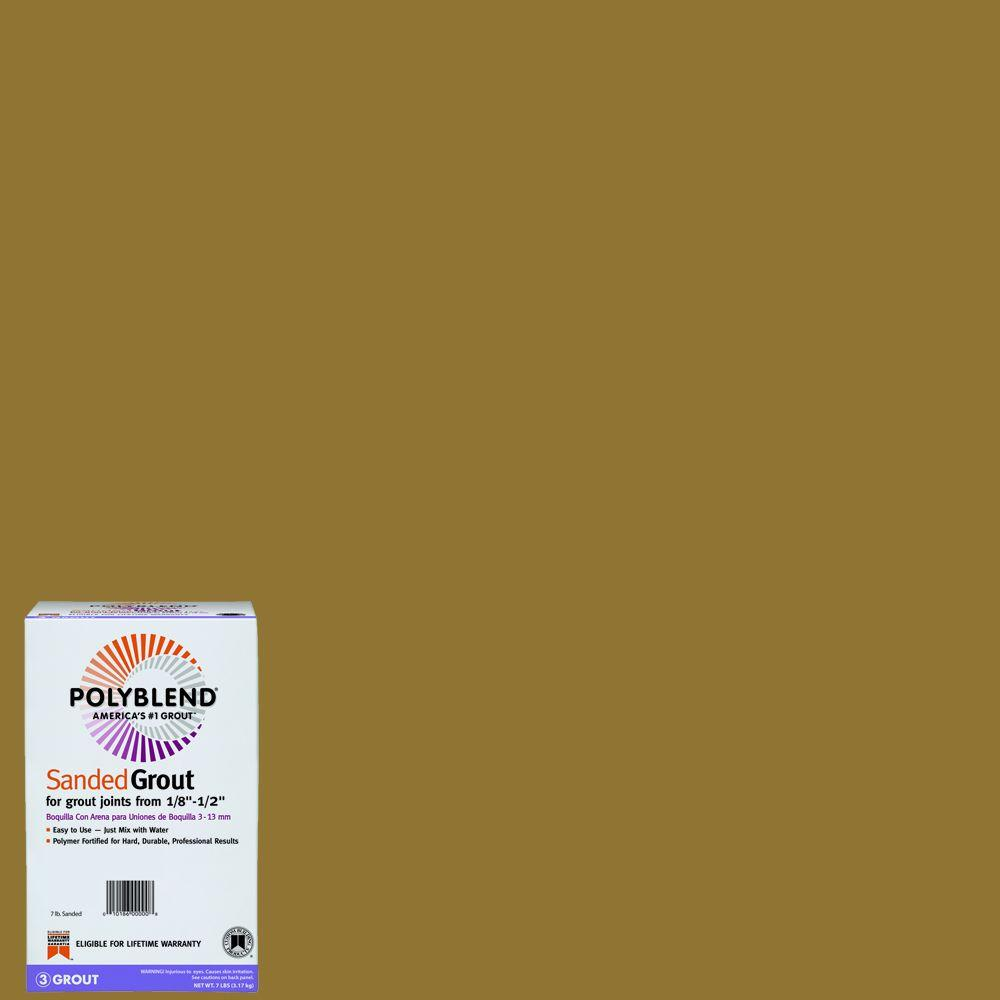 Custom Building Products Polyblend #45 Summer Wheat 7 lb. Sanded Grout