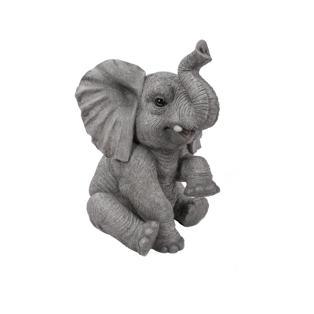 hi line gift elephant baby sitting with trunk up exclusive 87948 b