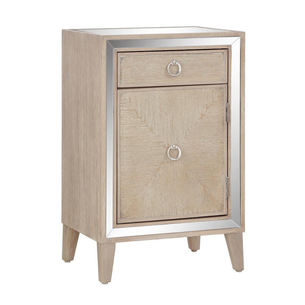 Heaton Light Brown 1-Door 1-Drawer Cabinet