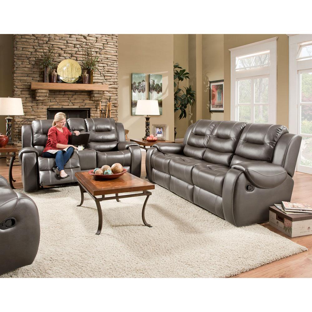 Clark Gray Double Reclining Sofa
