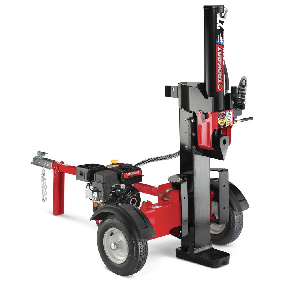 Troy-Bilt 27-Ton 208 cc Gas Hydraulic Log Splitter with Vertical or Horizontal Operational Options