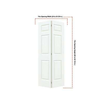 24 in. x 80 in. Colonist White Painted Textured Molded Composite MDF Closet Bi-fold Door