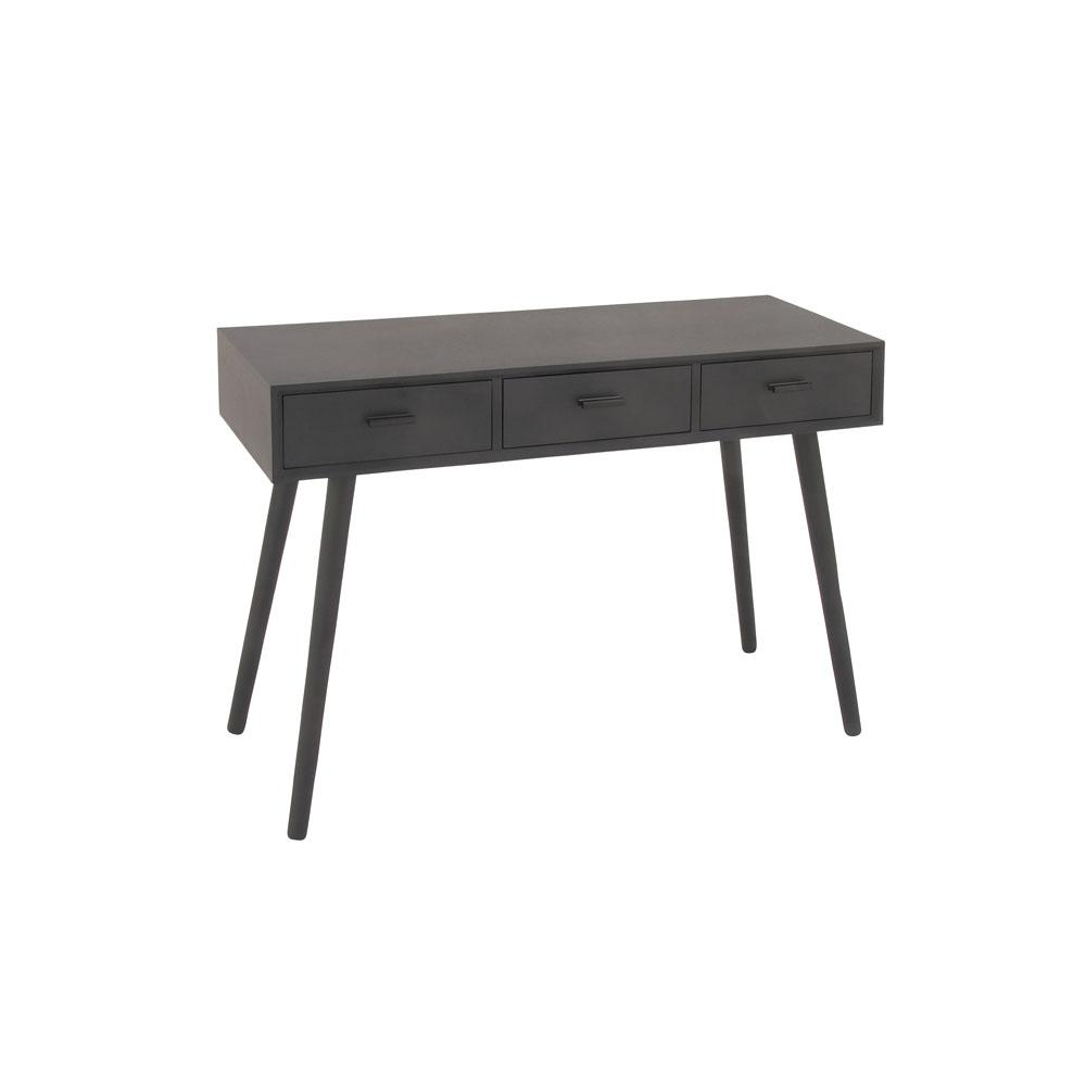Gray 3-Drawer Console Table
