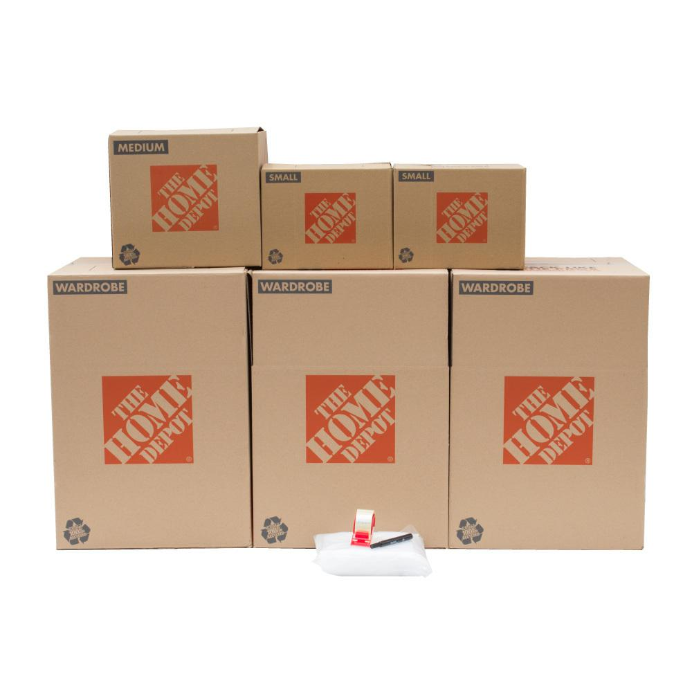 Bon The Home Depot 6 Box Closet Moving Kit