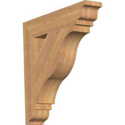 3.5 in. x 20 in. x 20 in. Western Red Cedar Funston Traditional Smooth Bracket