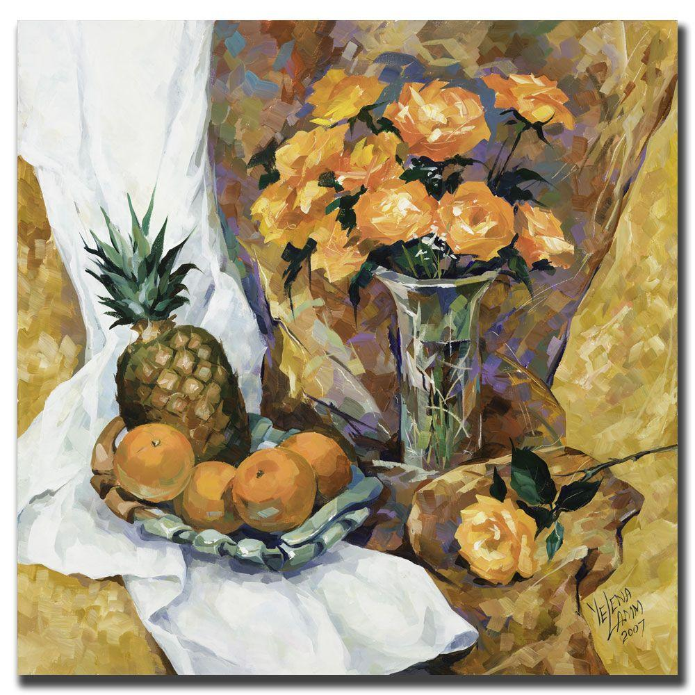 Trademark Fine Art 24 in. x 24 in. Still Life with Pineapple Canvas Art