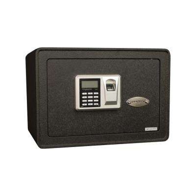 0.817 cu. ft. All Steel Security Safe with Biometric Lock, Textured Black