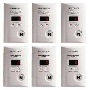 Kidde Plug-In CO Alarm with Digital Display and Battery Backup (6-Pack) by Kidde