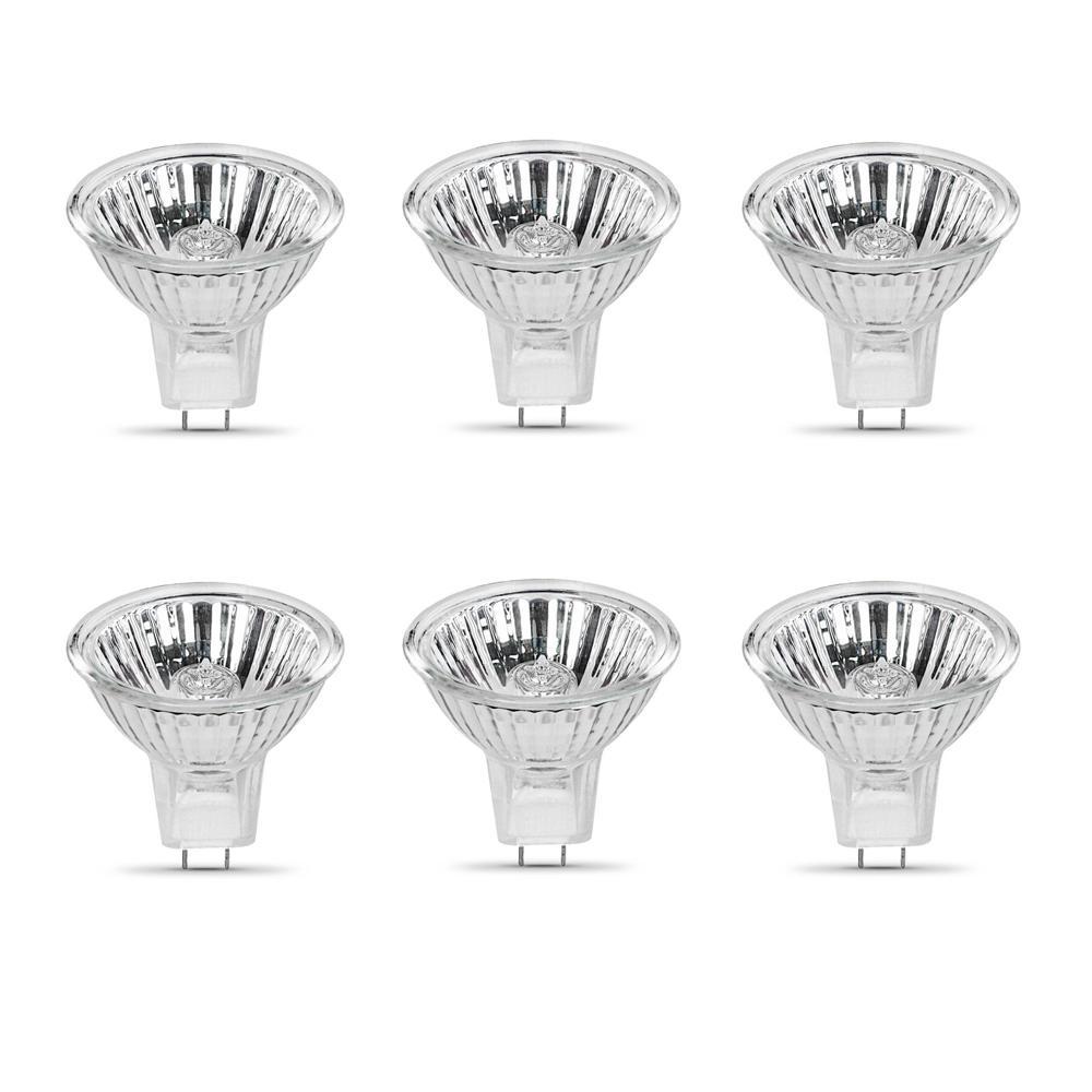 10-Watt Bright White (3000K) MR11 G4 Bi-Pin Base Dimmable 12-Volt Halogen Light Bulb (6-Pack)
