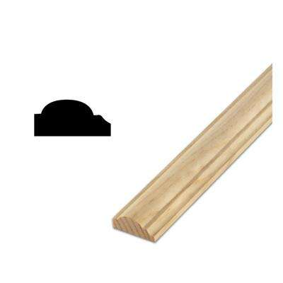 DM R42 - 11/16 in. x 1-3/4 in. Solid Pine Wall and Cabinet Trim Moulding