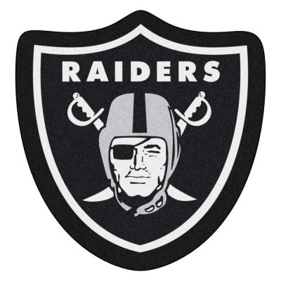 NFL - Las Vegas Raiders Mascot Mat 34.5 in.  x 36 in. Indoor  Area Rug