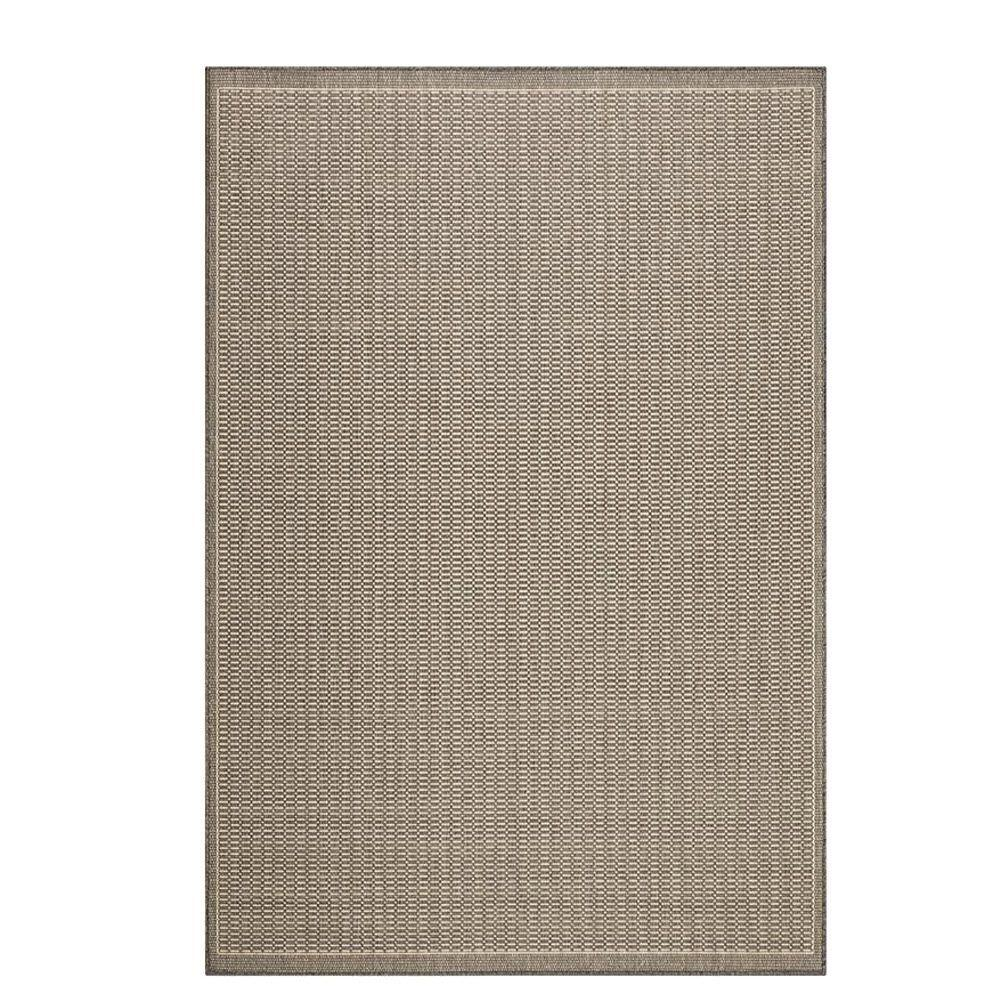 Home decorators collection saddlestitch grey champagne 8 for Home decorators echelon rug