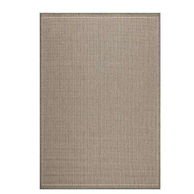 Amazing Saddlestitch Grey/Champagne 9 Ft. X 13 Ft. Indoor/Outdoor Area Rug