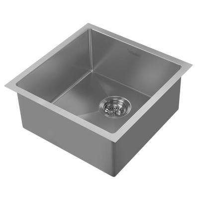 Noah Plus Dual Mount Stainless Steel 17-3/4 in. Single Bowl Kitchen Sink in Gunmetal Sink Kit