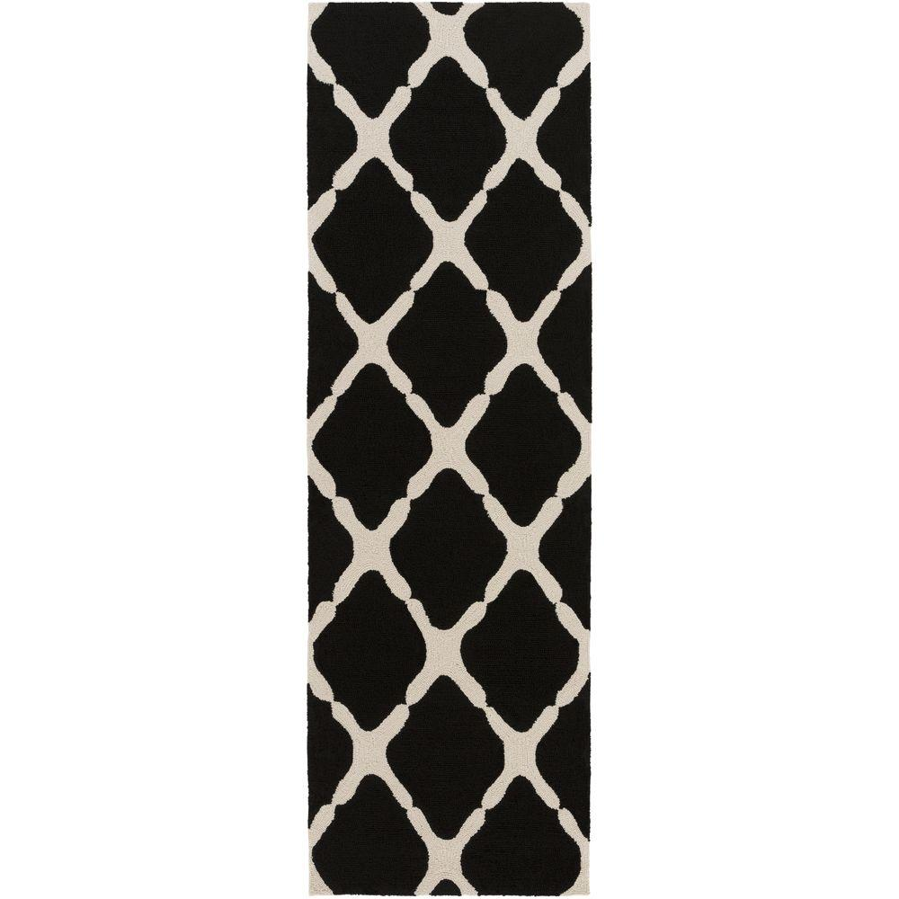 Masis Black 3 ft. x 8 ft. Indoor/Outdoor Runner Rug