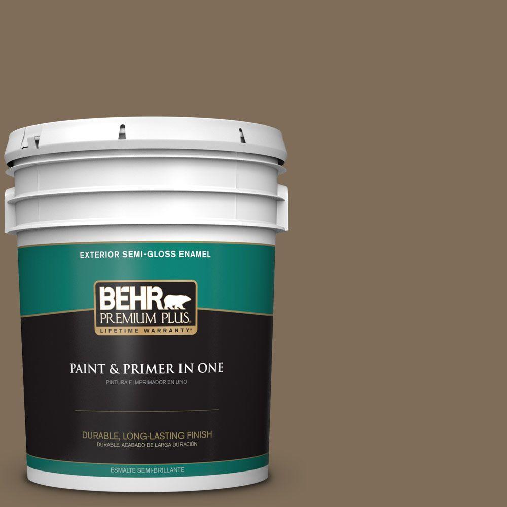 5-gal. #710D-6 Butternut Wood Semi-Gloss Enamel Exterior Paint