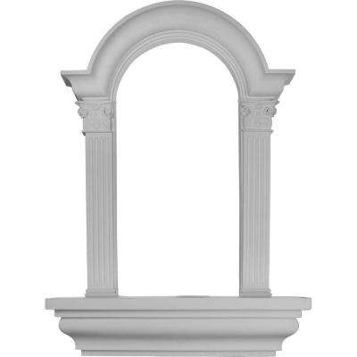 30-1/4 in. x 6-7/8 in. x 42-5/8 in. Primed Polyurethane Surface Mount Hillsborough Wall Niche