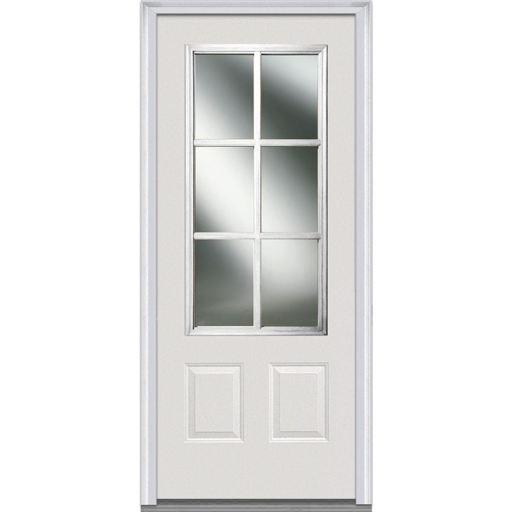 MMI Door 36 in. x 80 in. Simulated Divided Lites Right-Hand 3  sc 1 st  The Home Depot & MMI Door 36 in. x 80 in. Simulated Divided Lites Right-Hand 3/4-Lite ...