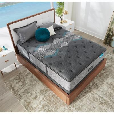 Harmony Lux HLD-2000 14.75 in. Medium Hybrid Tight Top Queen Mattress with 9 in. Box Spring Set