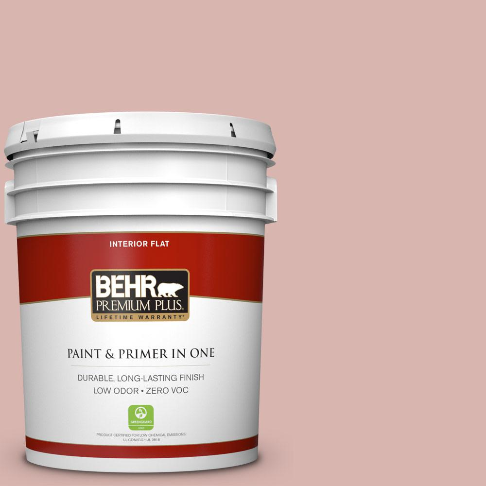 5-gal. #170E-3 Bridal Rose Zero VOC Flat Interior Paint