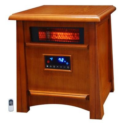 Zone 1500-Watt 8 Element Infrared Heater with Deluxe All Wood Cabinet and Remote
