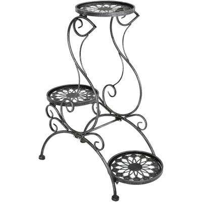 30 in. Victorian Grey Steel Plant and Flower Stand