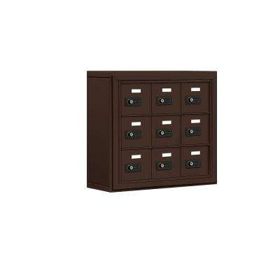 19000 Series 24 in. W x 20 in. H x 6.25 in. D Aluminum 9 A Doors S-Mount Resettable Locks Cell Phone Locker in Bronze