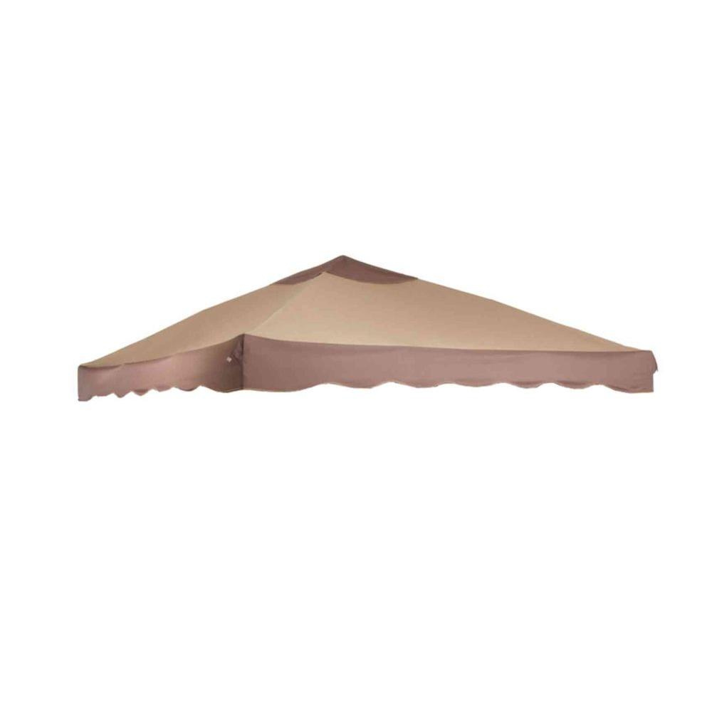 null Replacement Canopy for 10 ft. x 10 ft. Pitched Roof Patio Portable Gazebo-DISCONTINUED