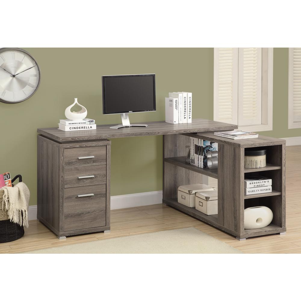 Monarch 2 In 1 Piece Dark Taupe Office Suite