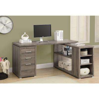 2 In 1 Piece Dark Taupe Office Suite